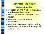 attitudes and values on mass media
