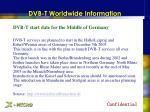 dvb t worldwide information9