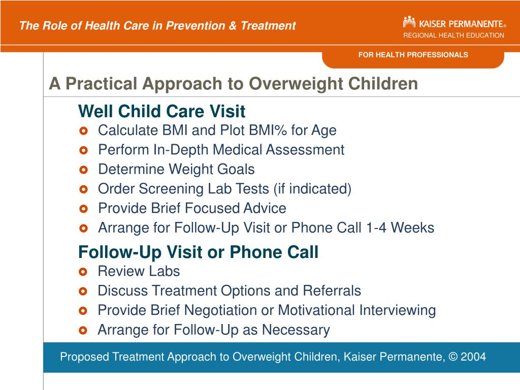 A Practical Approach to Overweight Children