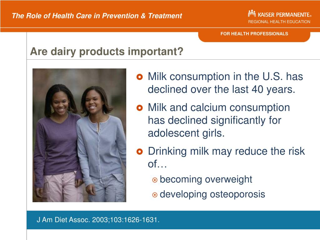 Are dairy products important?