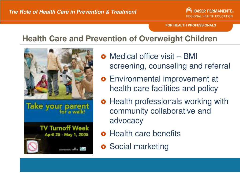 Health Care and Prevention of Overweight Children