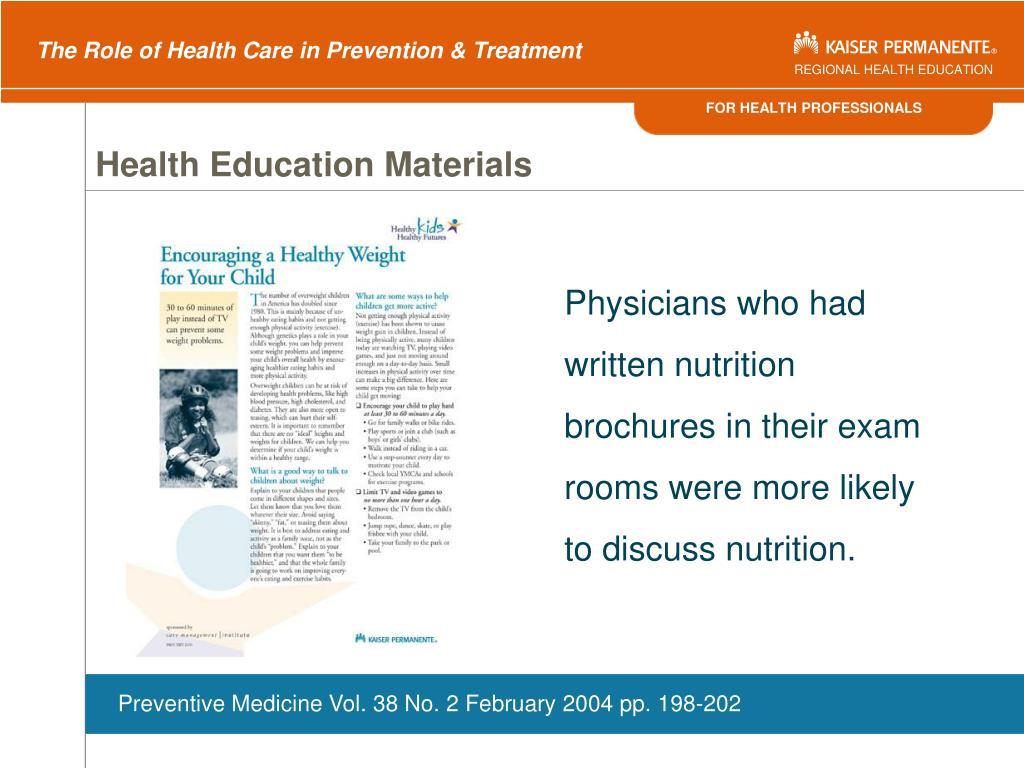 Health Education Materials