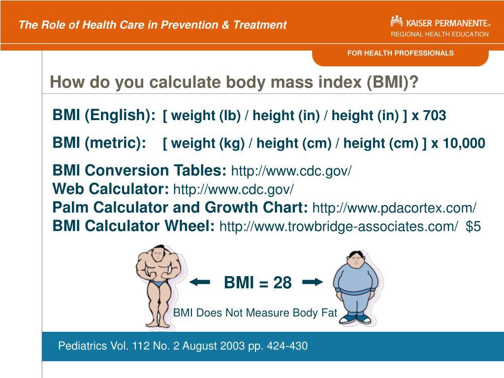 BMI = 28