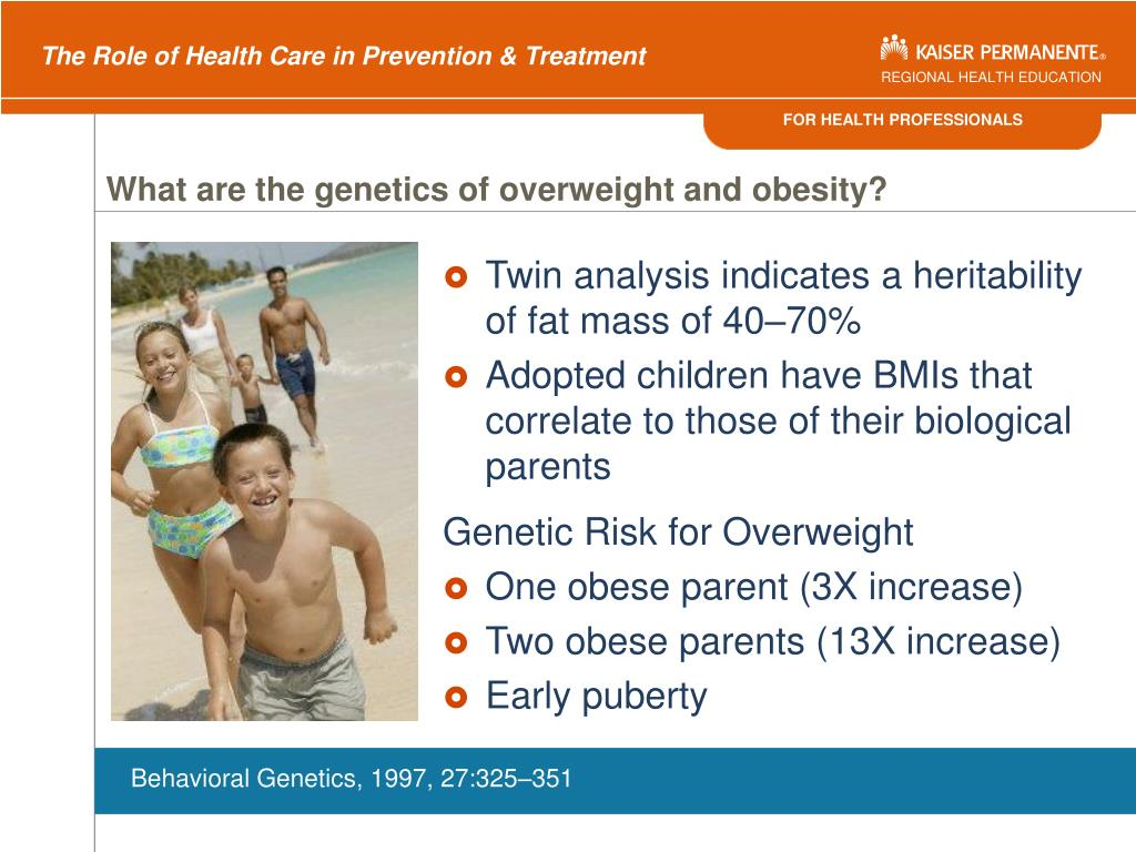 What are the genetics of overweight and obesity?