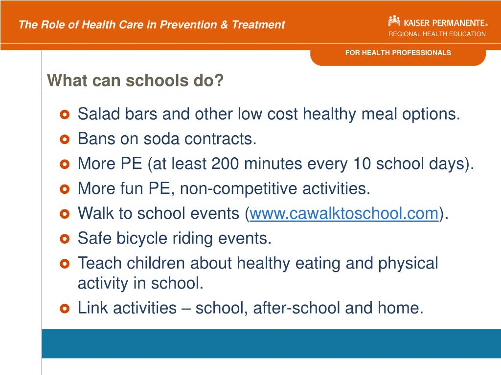 What can schools do?
