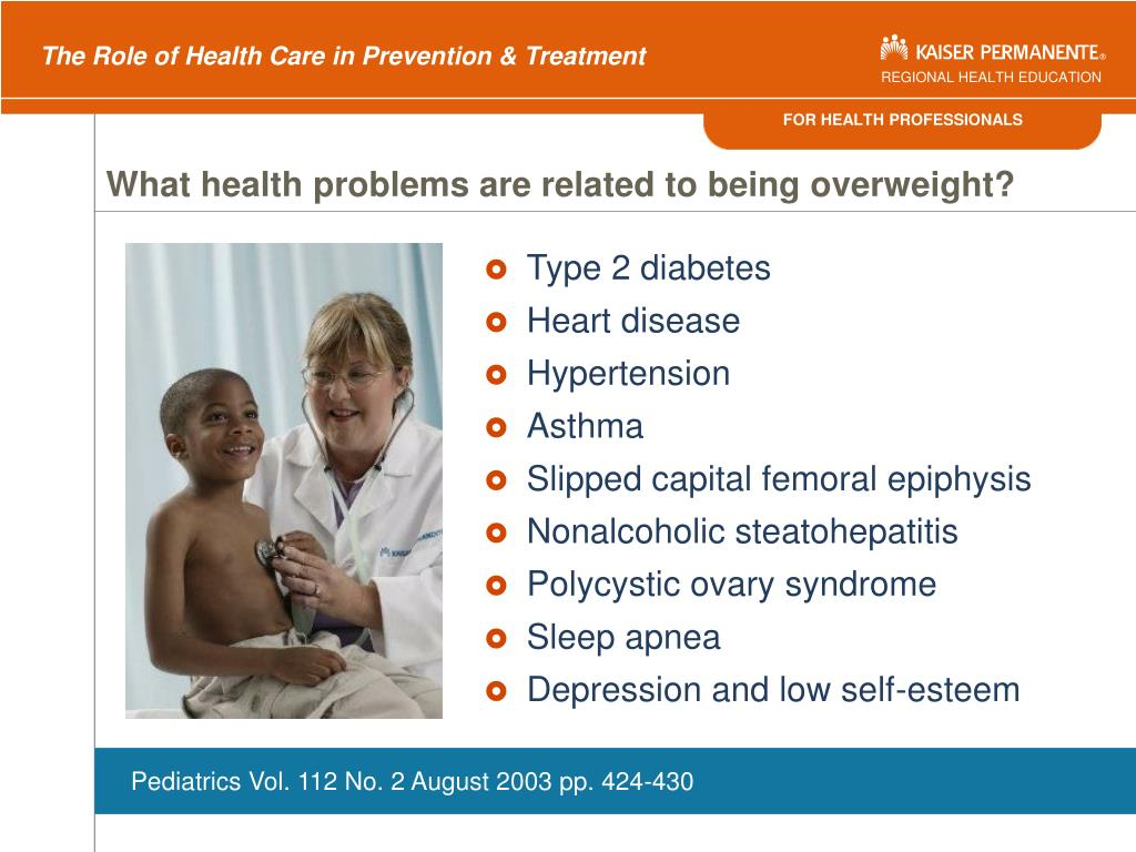 What health problems are related to being overweight?