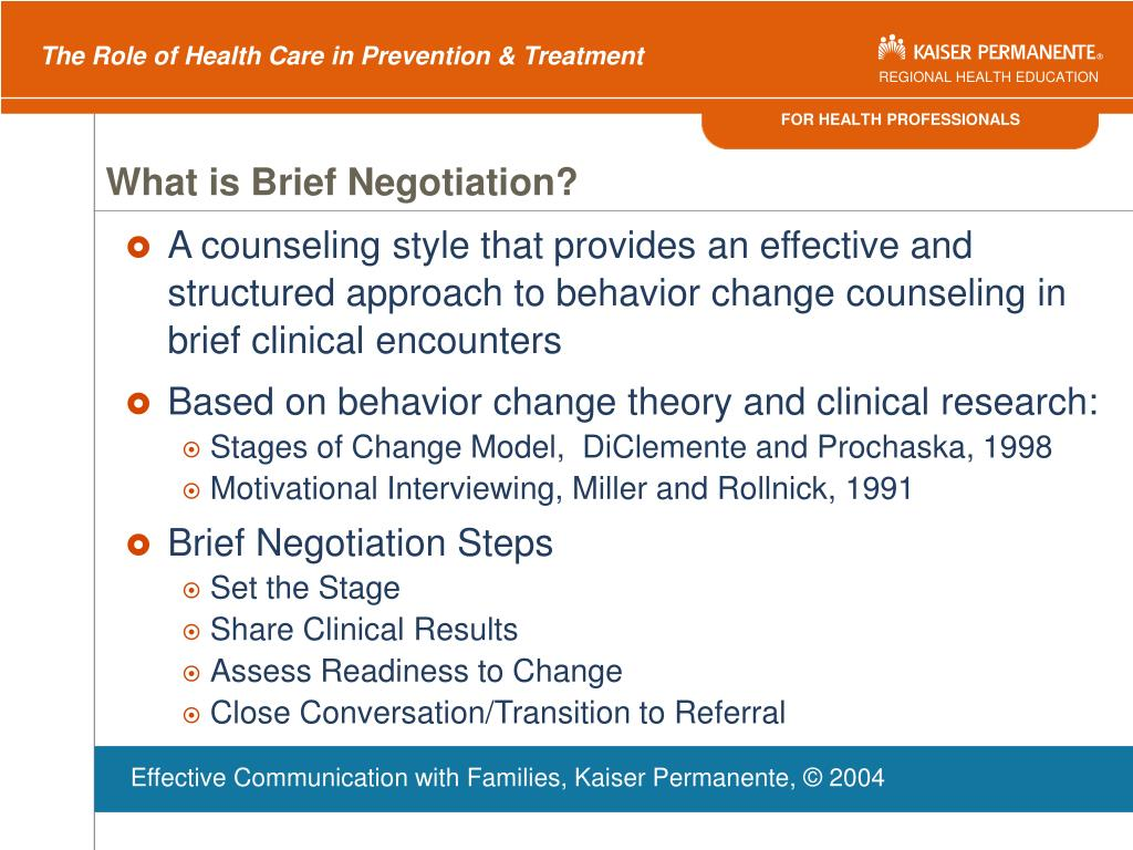 What is Brief Negotiation?