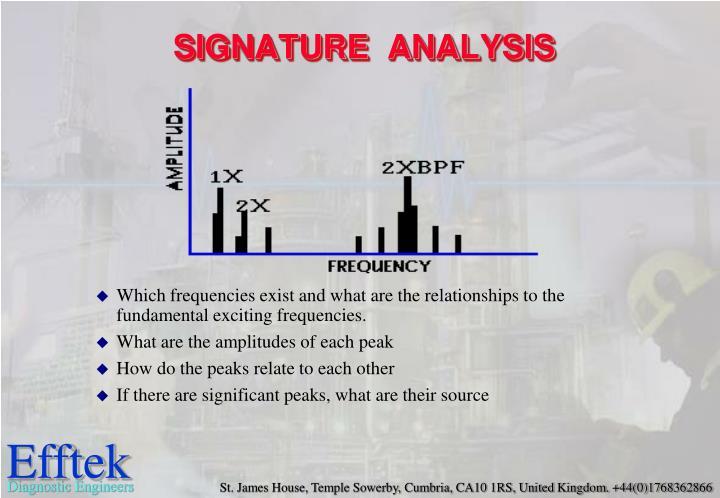 signature analysis n.
