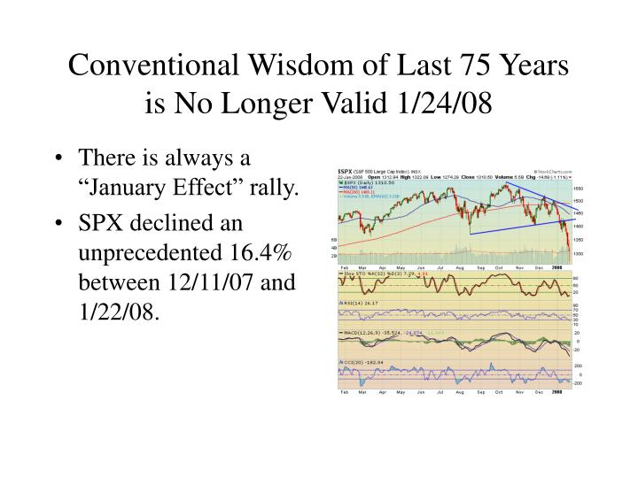 Conventional wisdom of last 75 years is no longer valid 1 24 08