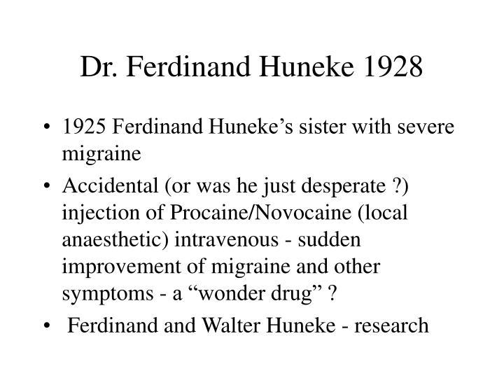 Dr ferdinand huneke 1928