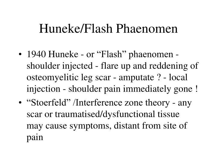 Huneke flash phaenomen