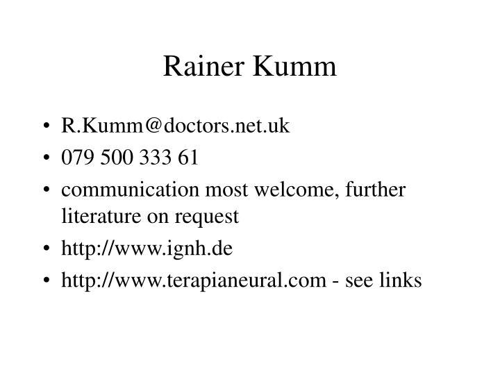 Rainer Kumm