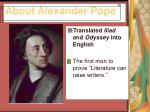 about alexander pope7