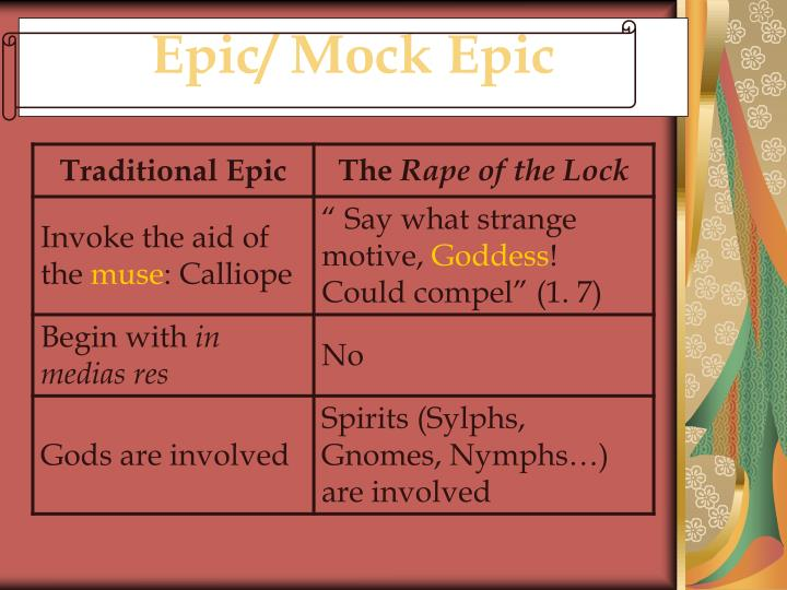 "an analysis of mock epic an alexander popes the rape of the lock Mock-heroic features of pope's ""the rape of the example of mock-epic genre alexander pope was the central of the rape of the lock as a mock-epic."