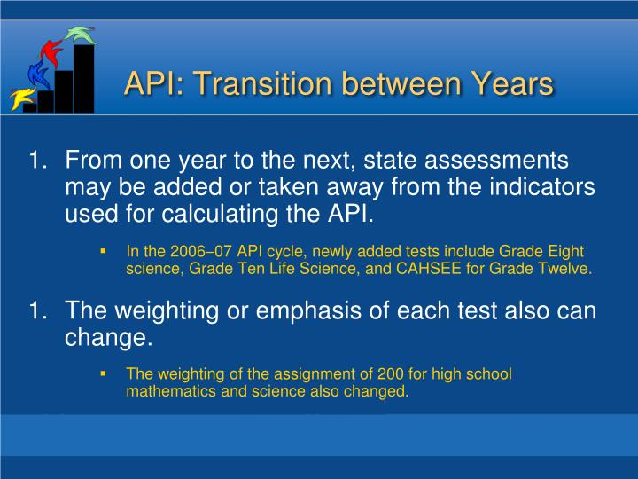 API: Transition between Years