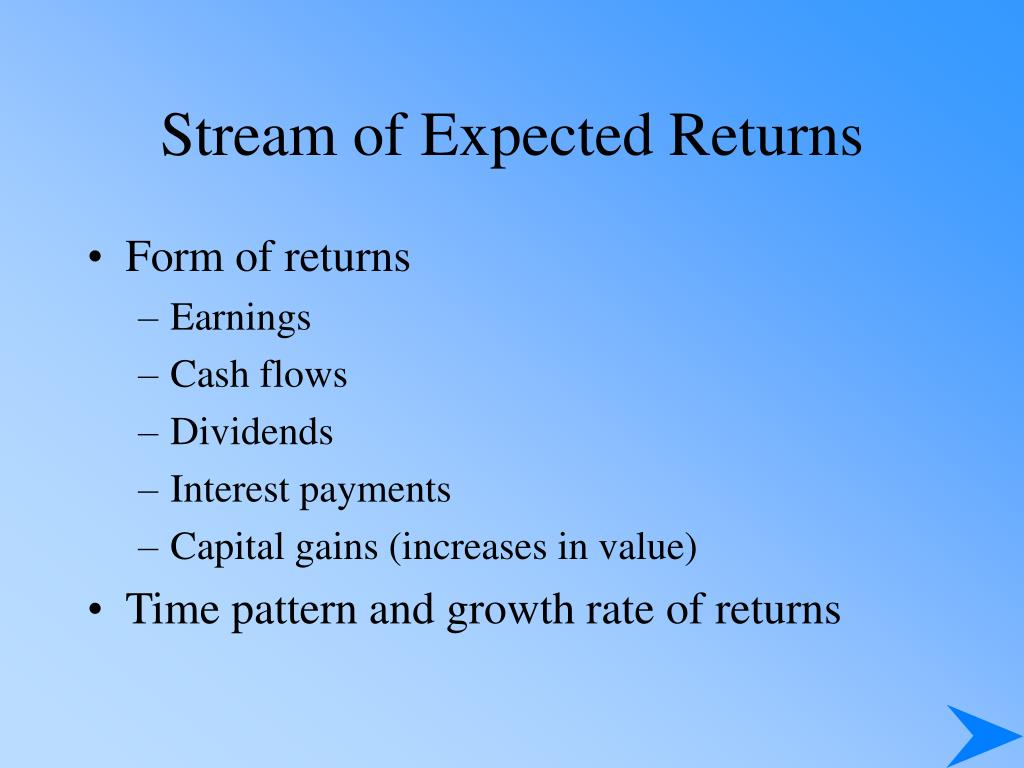 Stream of Expected Returns