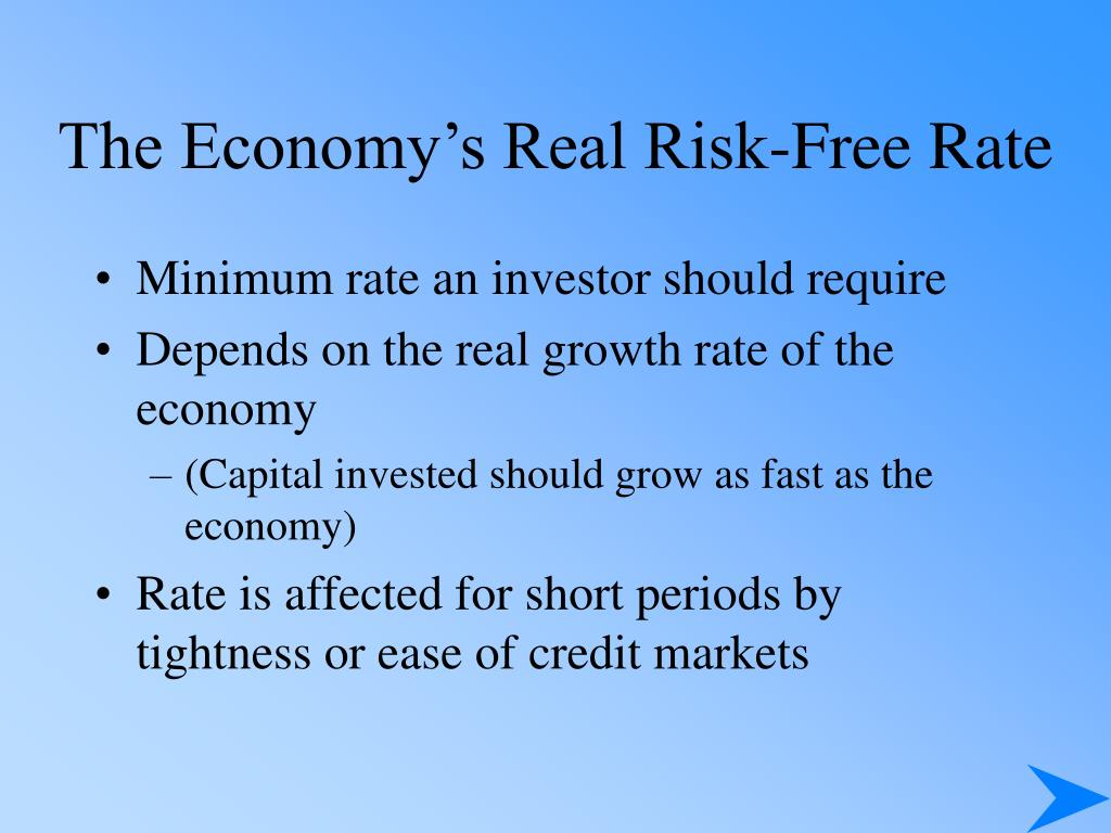 The Economy's Real Risk-Free Rate