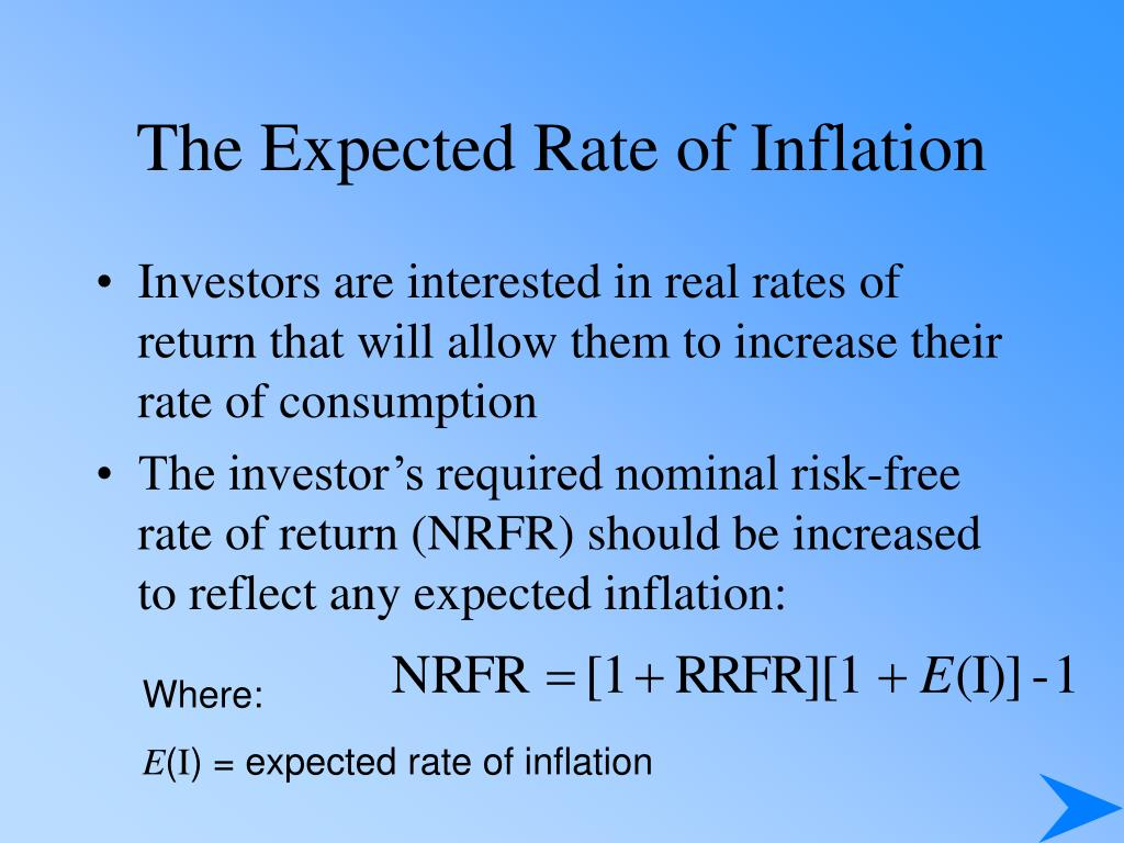 The Expected Rate of Inflation