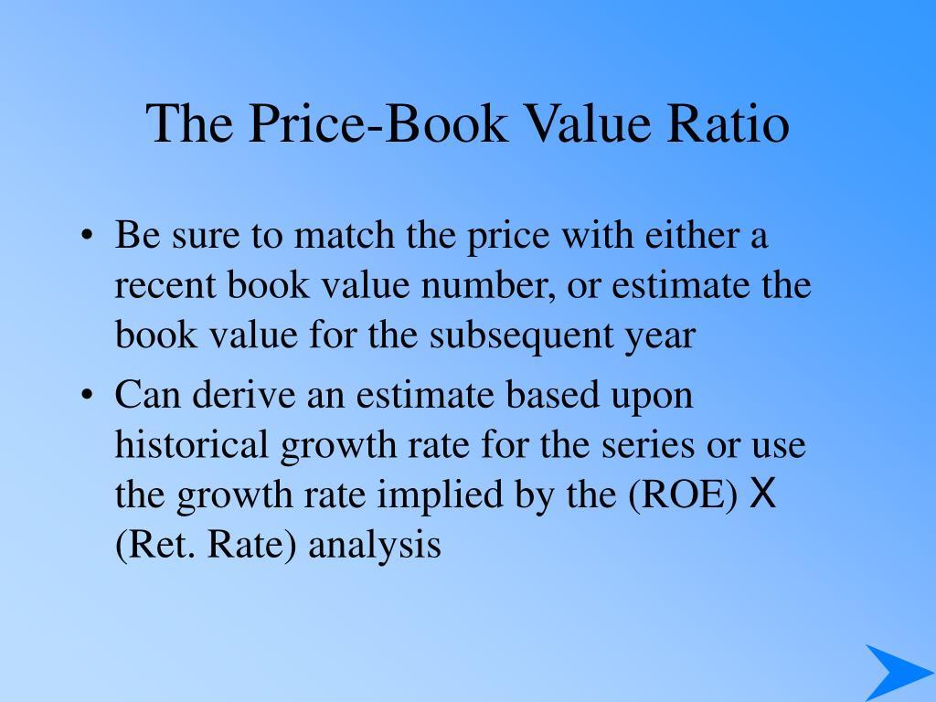 The Price-Book Value Ratio