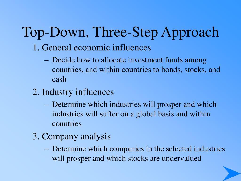 Top-Down, Three-Step Approach