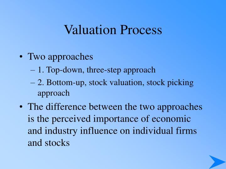 Valuation process