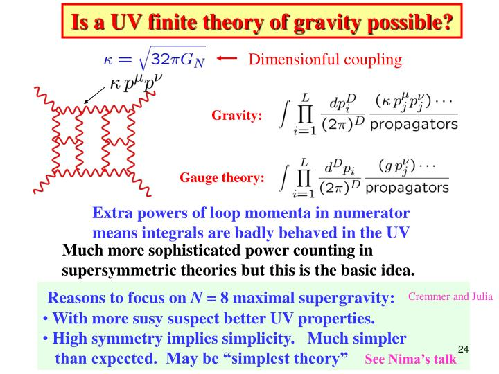 Is a UV finite theory of gravity possible?