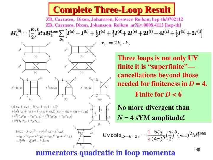 Complete Three-Loop Result