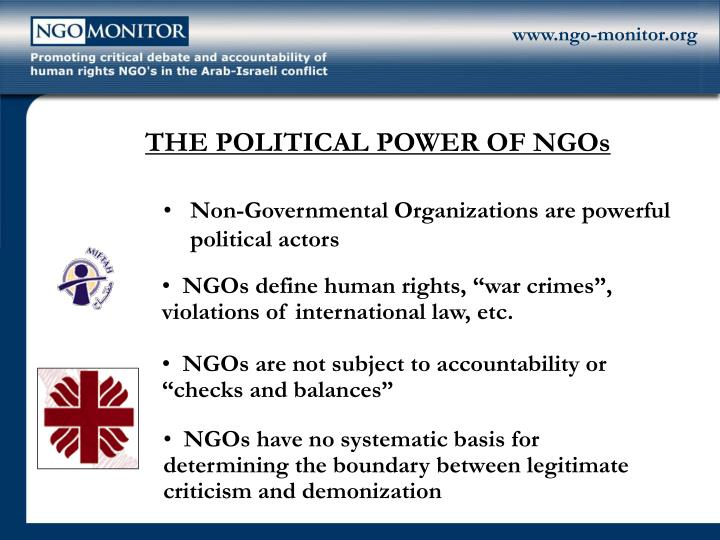 political sponsering of ngos essay The goal of many non-governmental organizations (ngos) and development organizations, for example, is to create empowered individuals and active citizens who will take responsibility for their own welfare and that of their families this means funding social programs to foster human development and organizing training sessions to.