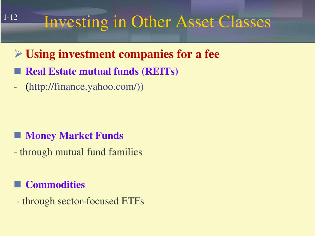 Investing in Other Asset Classes