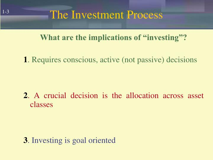 The investment process3
