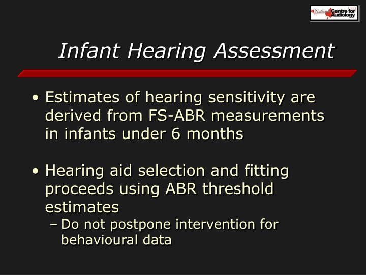 Infant Hearing Assessment