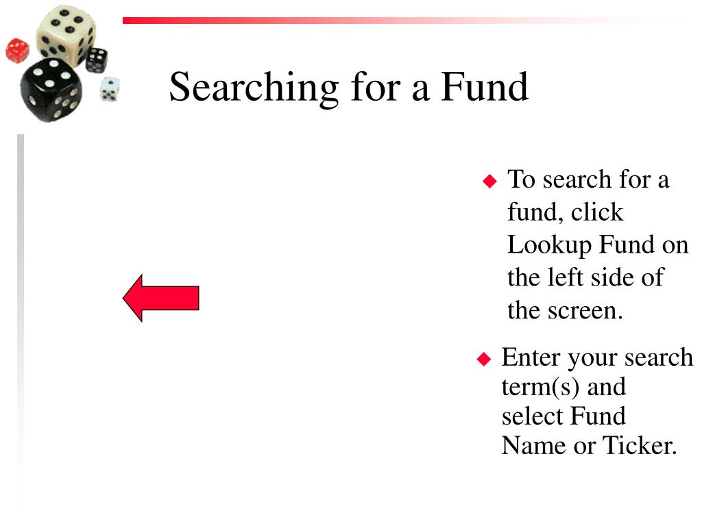 Searching for a Fund