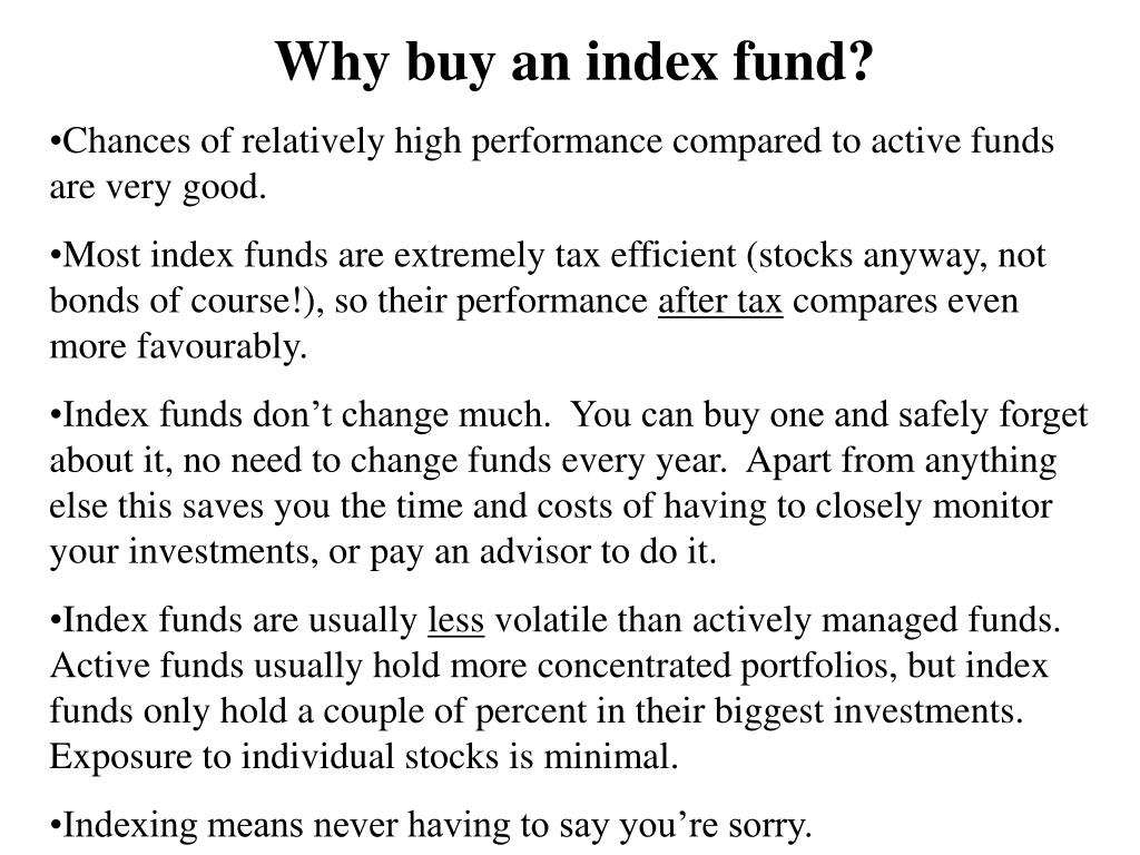 Why buy an index fund?