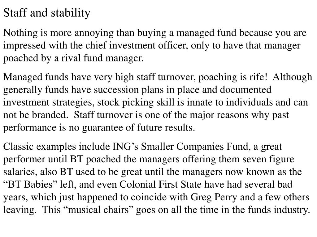 Staff and stability