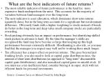 what are the best indicators of future returns