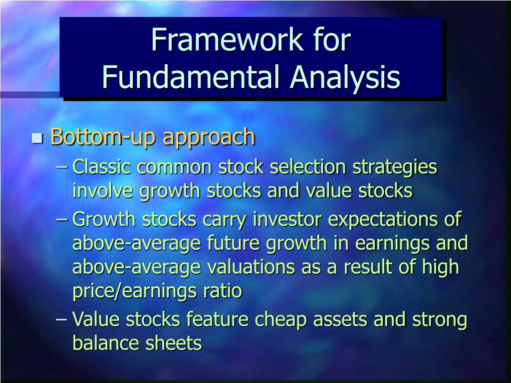Framework for Fundamental Analysis