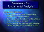 framework for fundamental analysis18