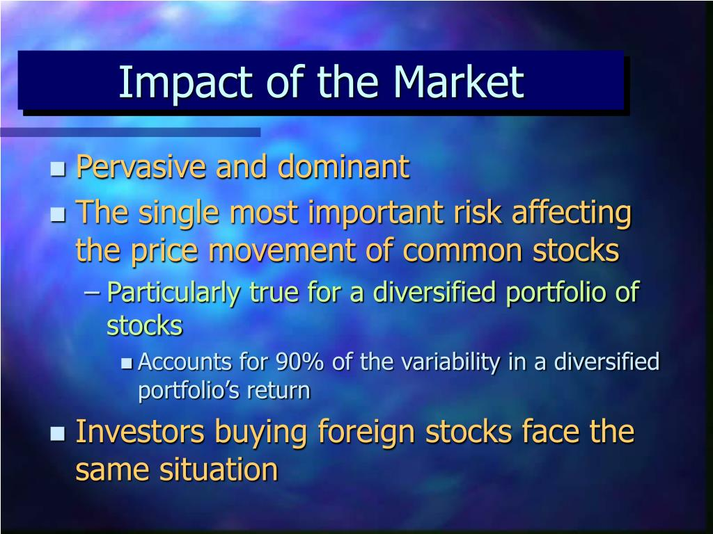 Impact of the Market