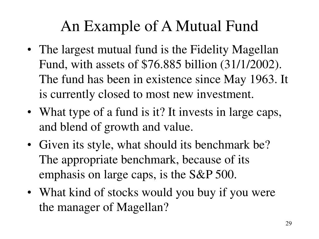 An Example of A Mutual Fund