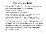 cap weighted index