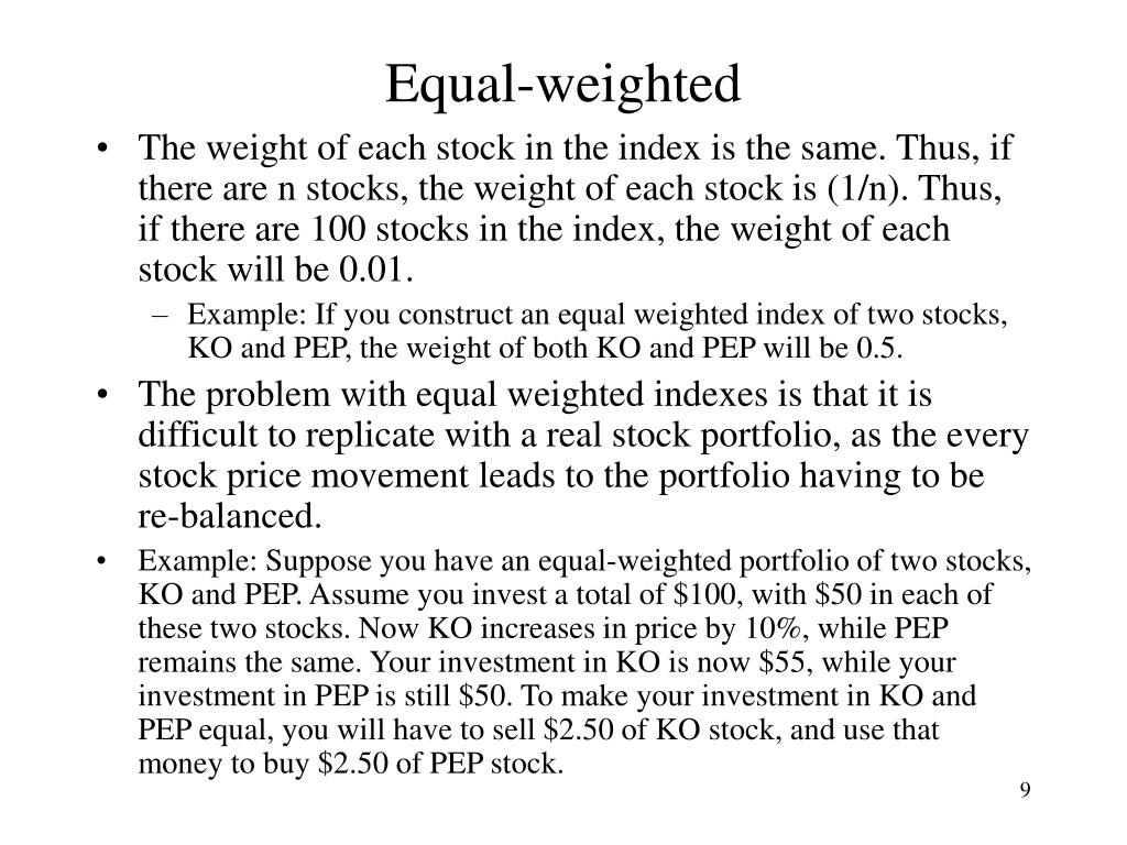 Equal-weighted