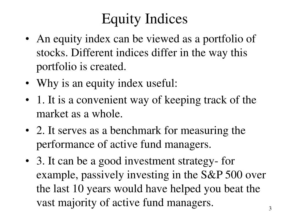 Equity Indices