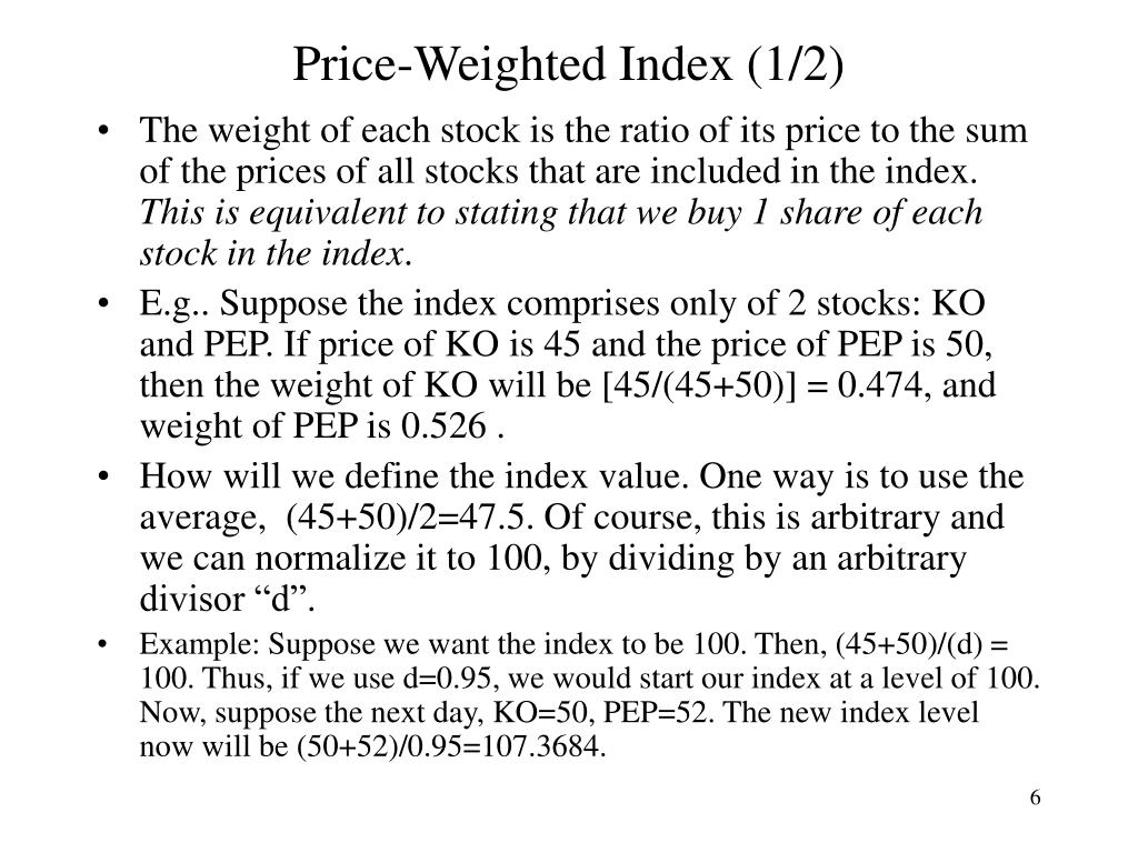 Price-Weighted Index (1/2)