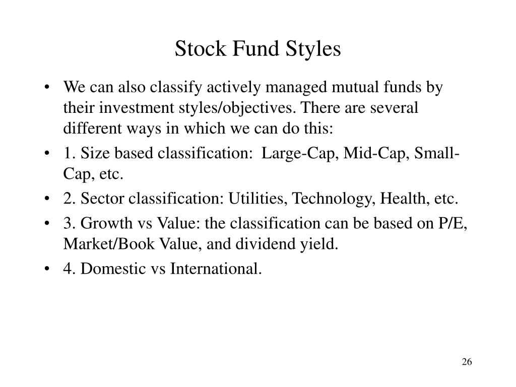 Stock Fund Styles