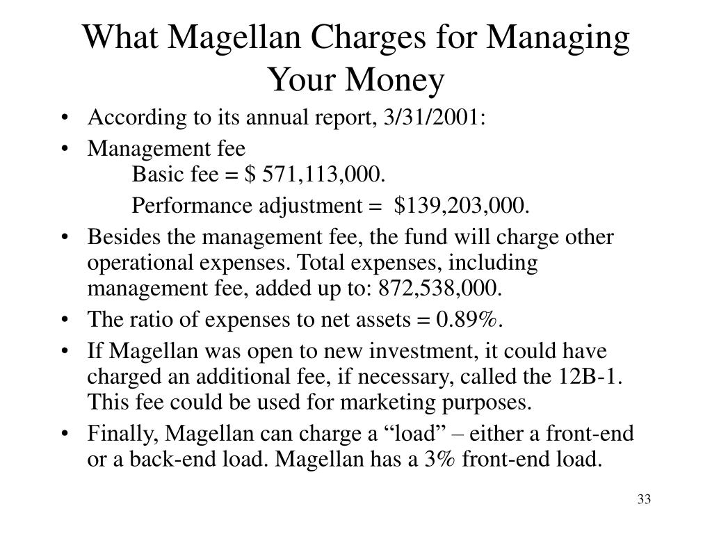 What Magellan Charges for Managing Your Money