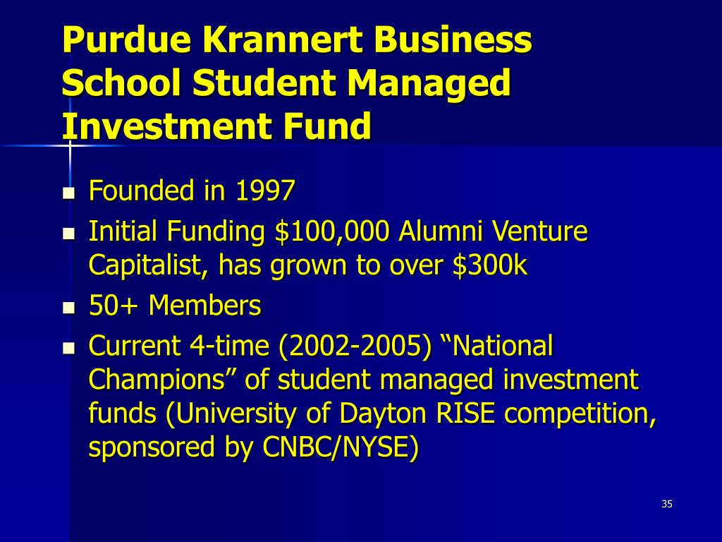 Purdue Krannert Business School Student Managed
