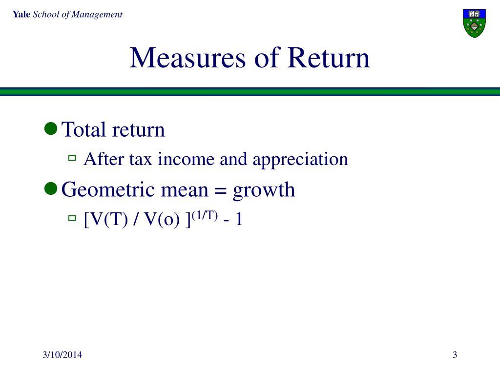 Measures of Return