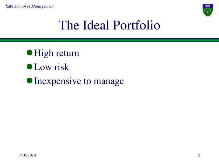 The ideal portfolio