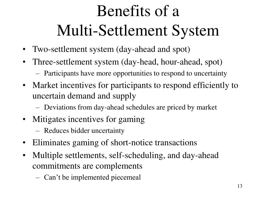 Benefits of a