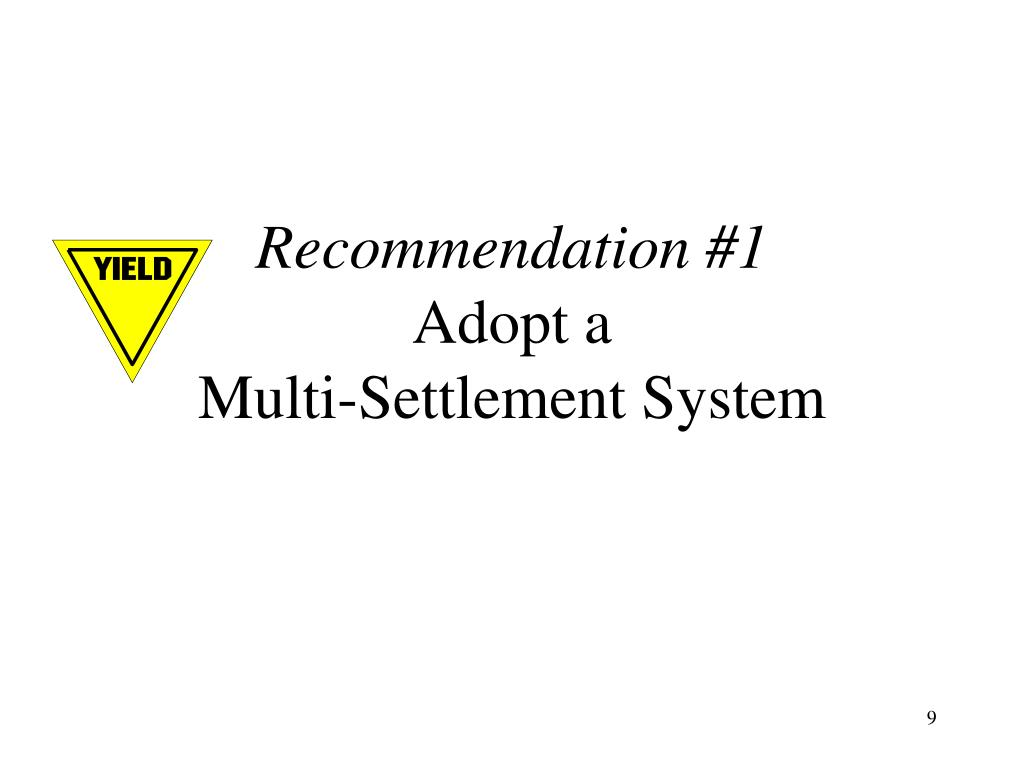 Recommendation #1